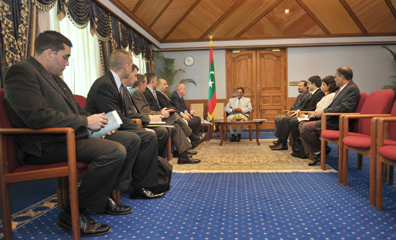 US congressional delegation in Maldives